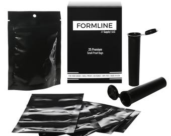 25 Smell Proof Bags (4 x 6 inches) Made in USA by Formline Supply - Discreet Baggies Lock in Freshness with Reusable Zipper. Diversion Safe.