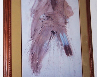 1982  W. B. Franklin Navajo Spirits Framed & Matted Serigraph Hand Signed by the Artist 1989