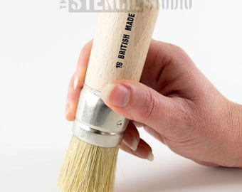Stencil Brush Various Sizes Made in UK Natural Bristle brushes from The Stencil Studio Ltd - great for all stenciling projects