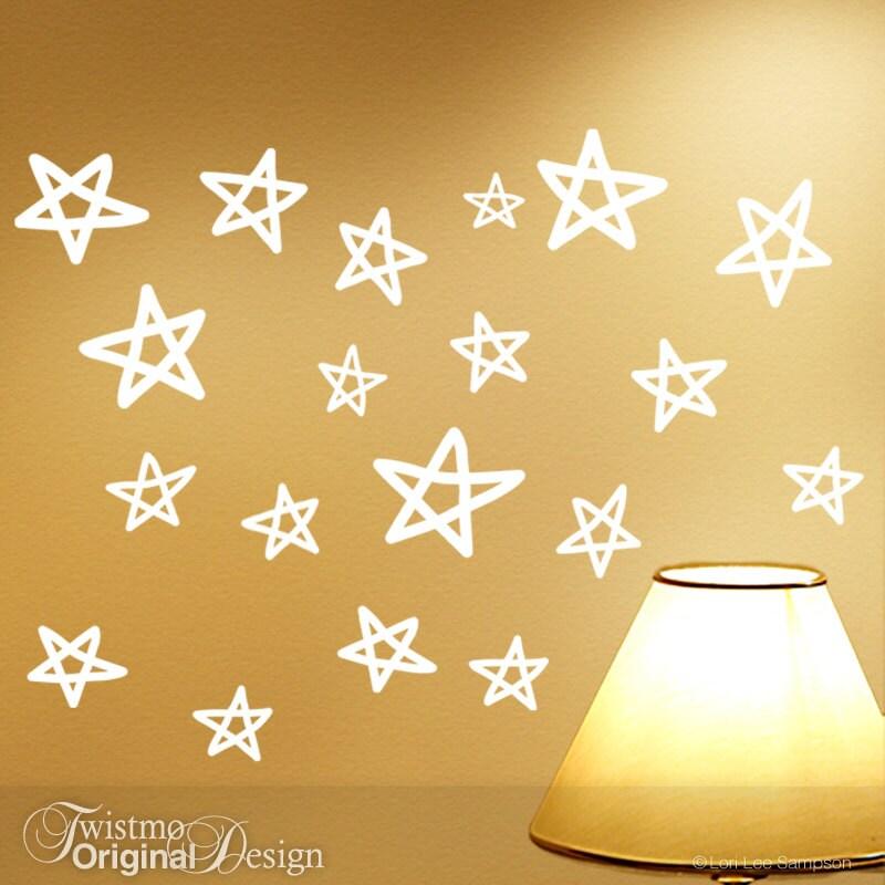 Vinyl Wall Stars Wall Decals Star Wall Stickers Kids Room