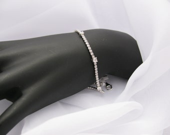 Streling silver Bracelet with Cubic Zirconia