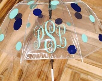 Monogram Umbrella, Personalized Umbrella, Monogrammed Umbrella