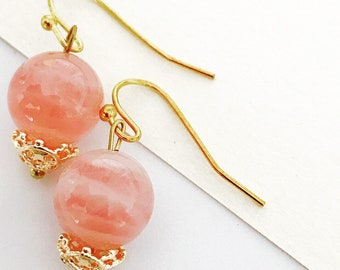 Madagascar Rose Quartz Earrings