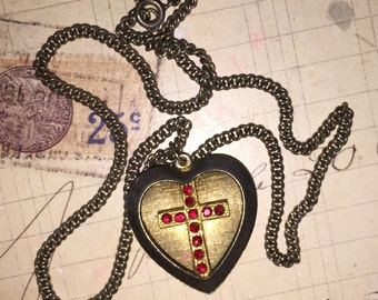 Child's Heart and Cross Necklace
