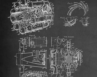 Aircraft Propulsion System and Power Unit Patent Art Print - Turbojet Patent Art Print - Patent Art Print - Patent Art - Patent Print