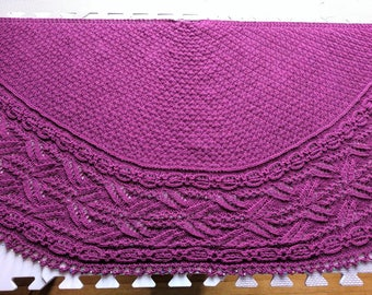Wide Lace Bordered Shawl