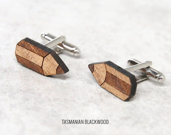 Pencil Cufflinks | Wood Cufflinks | 5th anniversary gift | Groomsmen Gift | Gifts for Him | Graduation Gift | Groom Gift | Gifts for Dad