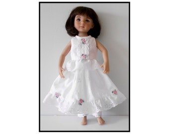 "PDF Camisole, Petticoat, and Pantalettes sewing pattern fits 13"" dolls"