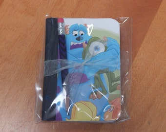 Up cycled MINI Composition Book Disney Monsters Inc