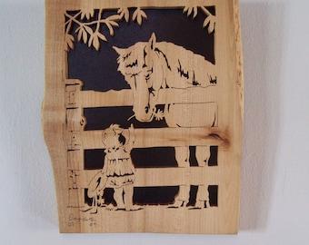 Naughty Pony Scroll Saw Art