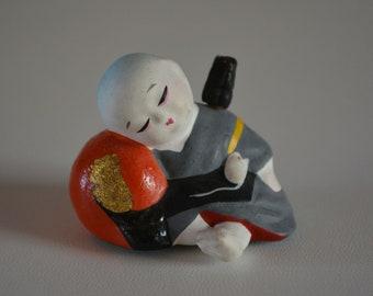 Daikokuten figurine, miniature, Japanese Shichifukujin seven lucky gods