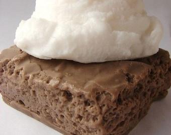 Chocolate Brownie  al a mode Soap