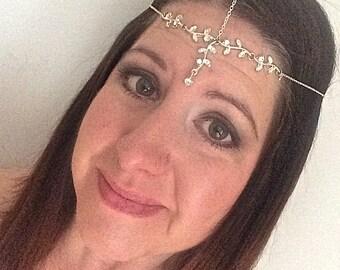 Bridal Headpiece, Crown, Headdress, Bridal Headband, Bridal Halo, Boho Wedding,Gypsy Headpiece, Hair Accessory, Wedding Headband, Bridesmaid