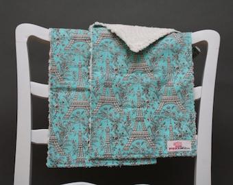 Chenille Burp Cloths, Burp Cloth Set, Cotton Burp Cloths, Eiffel Tower Fabric, Girl Burp Cloths, Paris Burp Cloths, Eiffel Tower Baby Decor