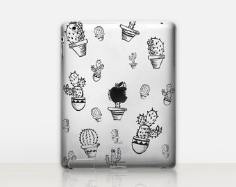 Cactus Transparent iPad Case For - iPad 2, iPad 3, iPad 4 - iPad Mini - iPad Air - iPad Mini 4 - iPad Pro