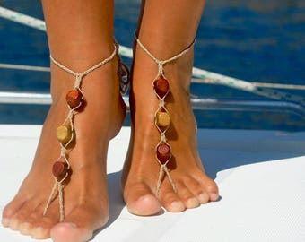 Boho Gift for Her Unique Gift Barefoot Sandals Boho Jewelry Boho Sandals Beach Sandals Boho Shoes Foot Jewelry Barefoot Jewelry Boho Gift