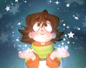 Out of all the stars - Pidge Voltron Print
