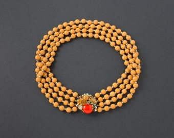 Miriam Haskell Multi Strand Necklace 16 inches