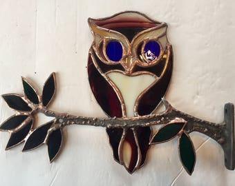 Stained glass owl, owls, owl on. Ranch, owl art, sun catcher, whimsical owl, whimsical art