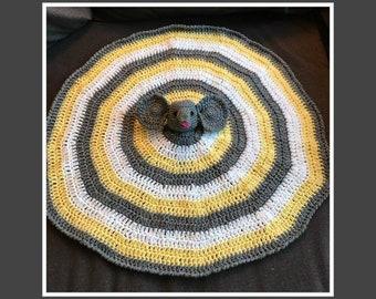 Crochet Elephant Lovey, Handmade Baby Security Blanket, Yellow, Gift, Amigurumi