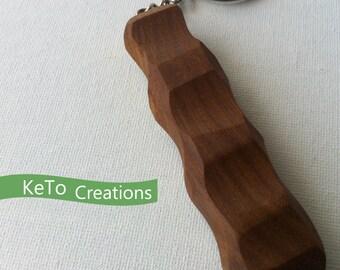 Hand-Crafted Wooden Sassafras Keychain