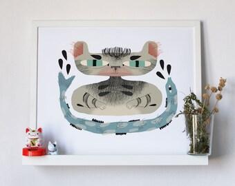 "Catfish – 20"" x 16"" poster art print"
