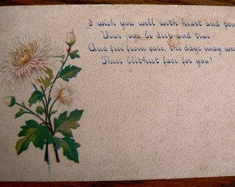 vintage POSTCARDS ... I WISH You WELL  stamped 1914  ...