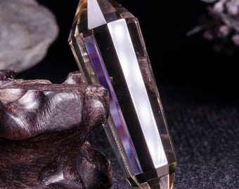 AAAAA 12 Sided Double Terminated Clear Smoky Crystal Quartz Point Pendulum/Vogel Point Wand Healing/Stick/Wicca/pagan/Metaphysical/#4761