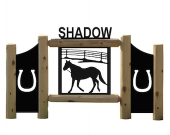 Horse and Corral Outdoor Sign
