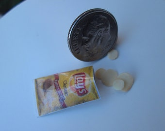 Dollhouse Miniature One Inch Scale 1:12 Potato Chips by CSpykersMiniaturesUS