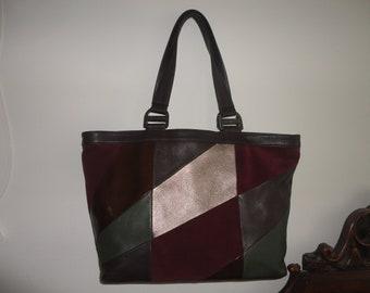 AK Anee Klein Large Leather Tote 18 x 11 x 4