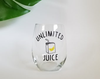 Arrested Development Buster Bluth Unlimited Juice Stemless Wine Glass
