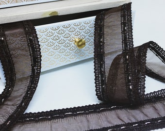 40 mm Brown woven Ribbon