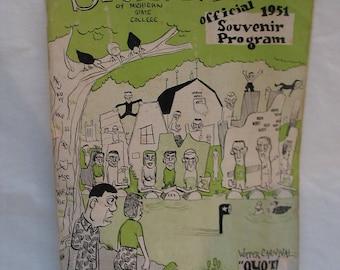 Vintage Michigan State College Spartan Magazine 1951 Souvenir Program