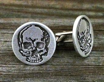 Skull Cufflinks | Pirate Cuff Links | Gothic Cufflinks |Skull Jewelry | Steampunk Cufflinks | Gothic jewelry | Men's Cufflinks | Cuff Links