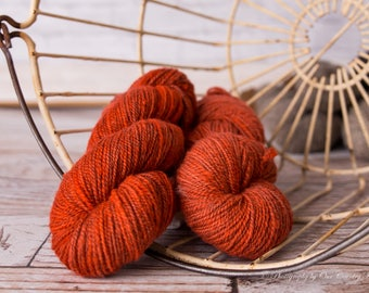 Rustic Orange Mill spun Yarn