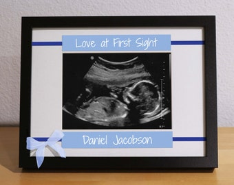 First Time Parents, Expecting Parents, Ultrasound Frame, Sonogram Frame, Custom Frame, Personalized Gift, New Baby Girl, Newborn Gift