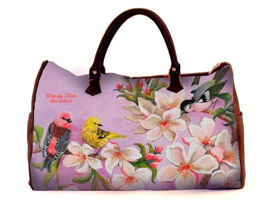 Travel bag,Bloom,weekend bag,birthday gift,gifts for her,gifts for mom,Woody Ellen handbag,christmas gifts,christmas gift ideas,gifts