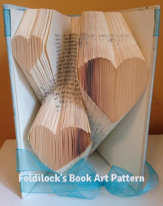 Multiple Heart Folded Book Art Pattern Book Folding