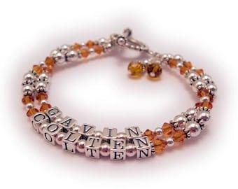 Birthstone Crystal Bracelet for Mommy or Grandma  Bracelets, each string - charms not included