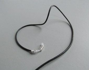 Black Leather Eyeglass Chain - Sunglasses Chain - Reading Glasses Chain - Eyeglass Holder Chain - Glasses Cord - For Women - For Men