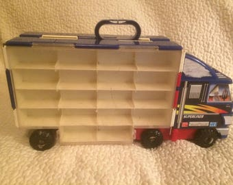 Vintage Superliner Semi Truck With Matchbox Car Storage On Both Sides