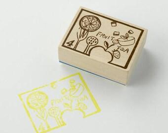 Chamil Garden TEA TIME H4 Stamp - decorative stamp, Japanese stamp