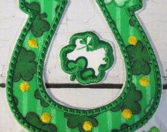 Ready To Ship  SEWFAST Lucky Charm - Iron On or Sew On Embroidered Applique