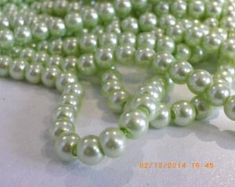 super 100 glass Pearl 8 mm Green water pearls