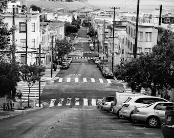 San Francisco art - black & white – handmade