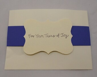 25 Ivory Tissue Packets With Bright Band