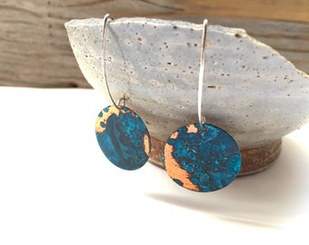 Verdigris Patina Copper Earrings