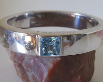 Pianegonda Blue Topaz Gemstone Bracelet in Sterling Silver