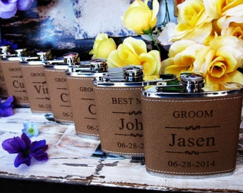 Set of 14 Personalized Flask
